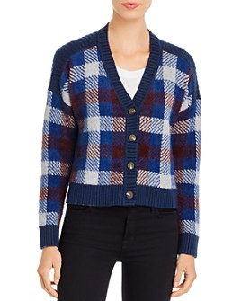 1.STATE - Plaid Cropped Cardigan