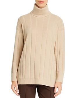 Lafayette 148 New York - Cashmere Mixed-Rib Turtleneck Sweater
