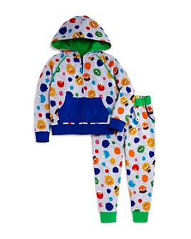Isaac Mizrahi Loves Sesame Street - Unisex Character Print Hoodie & Jogger Pants, Baby, Little Kid - 100% Exclusive
