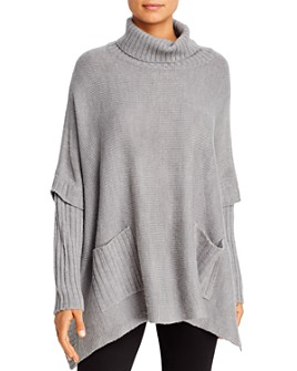 Alison Andrews - Turtleneck Poncho Sweater