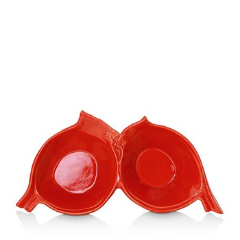 VIETRI - Lastra Holiday Figural Red Bird Two-Part Server