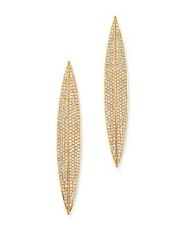 Madhuri Parson - 14K Yellow Gold Diamond Essentials Leaf Drop Earrings