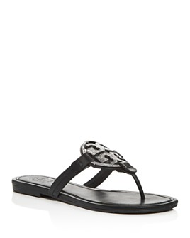 Tory Burch - Women's Miller Embellished Thong Sandals