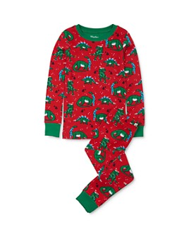 Hatley - Boys' Holiday Dino Tee & Holiday Dino Pants Pajama Set - Little Kid, Big Kid