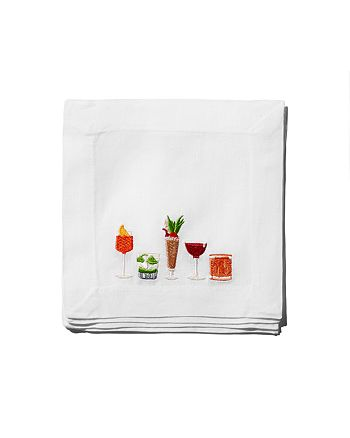 Lettermade - The Liquor Cabinet x Lettermade Embroidered Cocktail Napkins, Set of 4 - 100% Exclusive