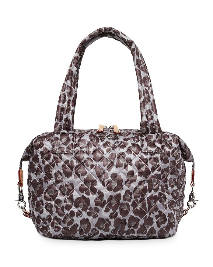 MZ WALLACE - Leopard-Print Medium Sutton Shoulder Bag