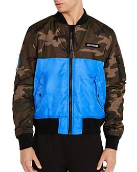 Avirex - Color-Block Slim Fit Bomber Jacket