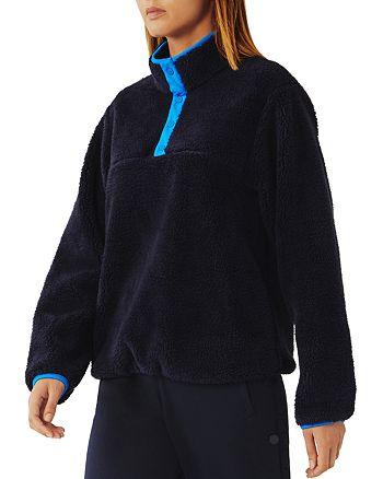 Tory Sport - Sherpa Fleece Half-Snap Sweatshirt