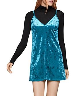 BCBGENERATION - Crushed Velvet Slip Dress