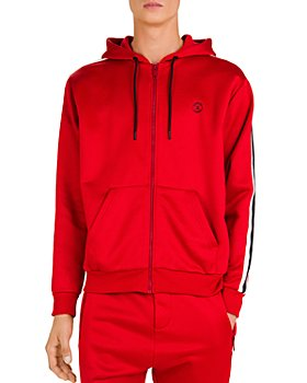 The Kooples - Fleece & Band Zip-Front Hoodie