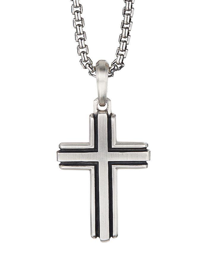 David Yurman - Sterling Silver Deco Cross Pendant