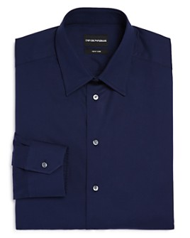 Armani - Solid Twill Regular Fit Dress Shirt