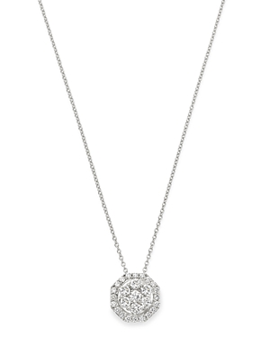 Bloomingdale's Cluster Diamond Pendant Necklace in 14K White Gold, 1.0 ct. t.w. - 100% Exclusive