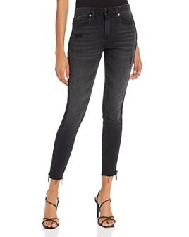 BLANKNYC - Side-Zip Ankle Skinny Jeans in Black