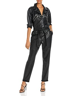 BLANKNYC - Faux Leather Belted Boilersuit