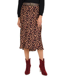 ba&sh - Teddy Leopard Print Slip Skirt