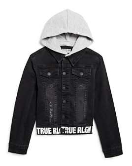 True Religion - Boys' Hooded Denim Jacket - Little Kid, Big Kid
