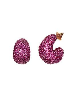 kate spade new york - Pavé Huggie Hoop Earrings