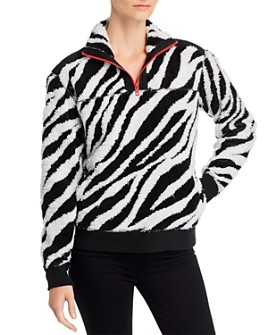 rag & bone - Zebra Print Fleece Sweatshirt