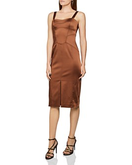 REISS - Madeleine Structured Bodycon Midi Dress