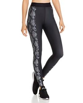 COR designed by Ultracor - Snake-Print Detail Leggings