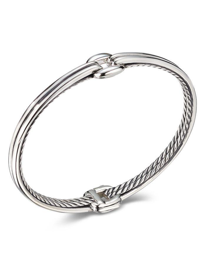 David Yurman Sterling Silver Thoroughbred Center Link Bracelet   | Bloomingdale's