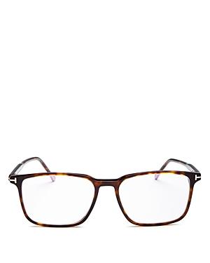 Tom Ford Men's Square Blue Light Glasses, 55mm