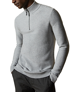 Ted Baker Sweaters NEWPORT HALF-ZIP RIBBED SWEATER
