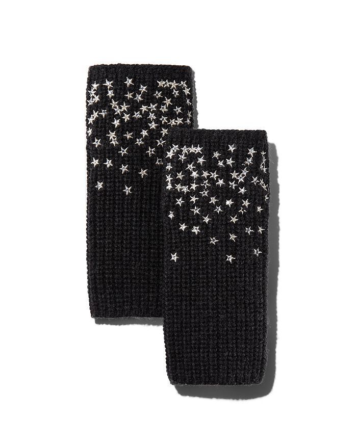 Carolyn Rowan Accessories - Scattered Stars Embroidered Fingerless Gloves