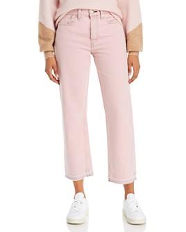 rag & bone - Maya High-Rise Ankle Straight-Leg Jeans in Shadow Pink