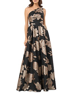 Carmen Marc Valvo Infusion - One-Shoulder Organza Floral Dress