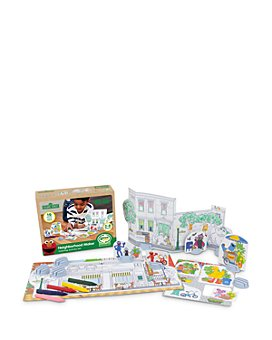 Green Toys - Sesame Street Neighborhood Maker Coloring Activity Set - Ages 2+