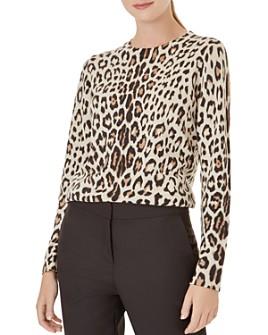 HOBBS LONDON - Hazel Leopard Print Merino Wool Sweater