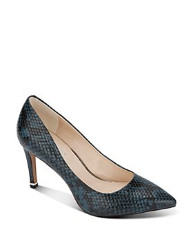 Kenneth Cole - Women's Riley Snake-Embossed Pumps