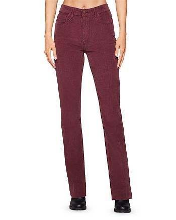 BCBGENERATION - Corduroy Bootcut Jeans in Burgundy