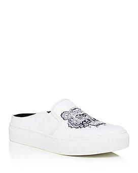 Kenzo - Women's Embroidered Slip-On Platform Sneakers