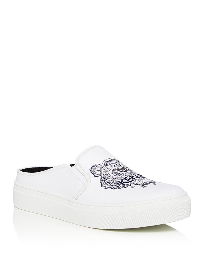 Kenzo - Women's Embroidered Slip-On Platform Sneakers