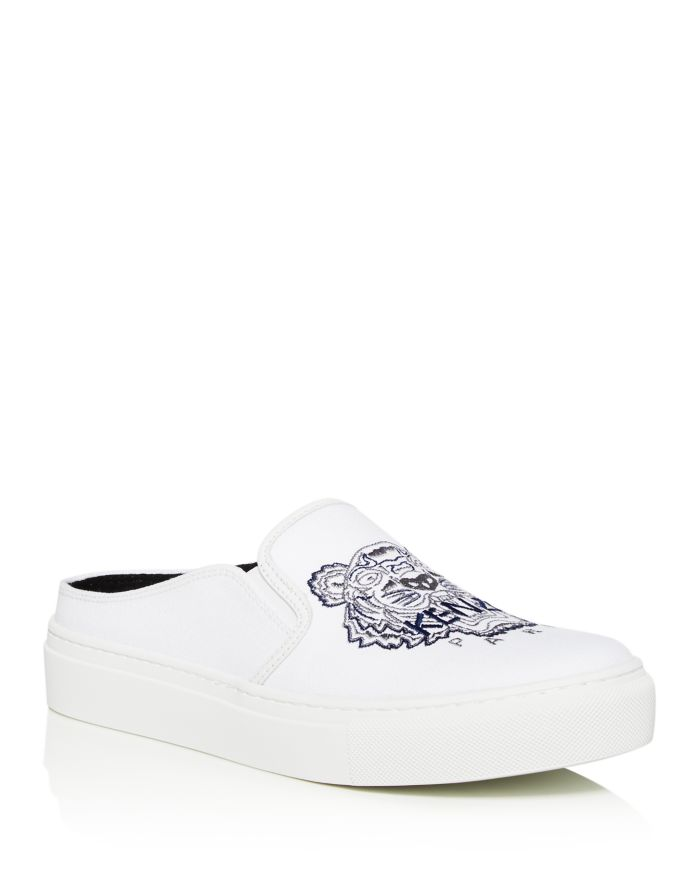 Kenzo Women's Embroidered Slip-On Platform Sneakers    Bloomingdale's