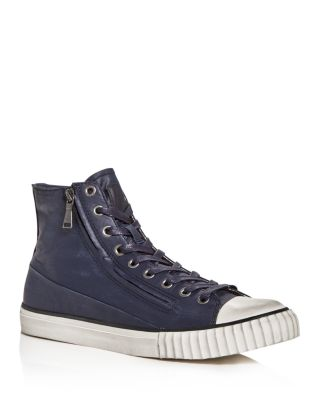 Vulcanized Coated High-Top Sneakers