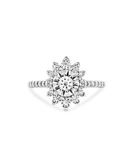 Hayley Paige for Hearts on Fire - 18K White Gold Behati Say It Your Way Engagement Ring with Diamonds & Pink Sapphire