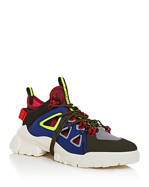 McQ Alexander McQueen Men's Orbyt Leather Mid-Top Sneakers