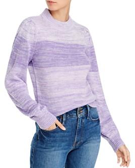 AQUA - Puff-Sleeve Melange Sweater - 100% Exclusive