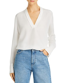 Equipment - V-Neck Silk Blouse