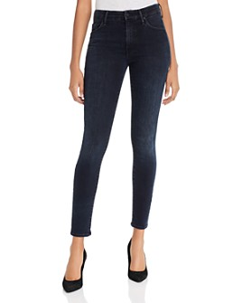 MOTHER - The Looker High-Rise Skinny Jeans in Blackbird