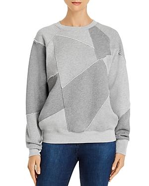 Frame Patchwork Fleece Sweatshirt