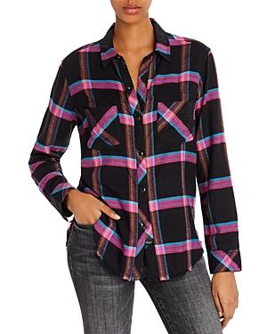 Rails T-shirts LEO FRAYED PLAID SHIRT