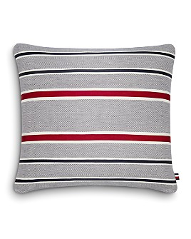"Tommy Hilfiger - Appliqued Tommy Stripe Decorative Pillow, 20"" x 20"""