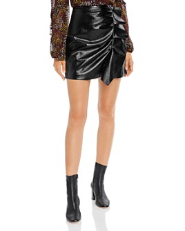 Joie - Jain Ruffled Faux-Leather Mini Skirt