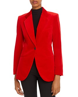 Theory - Velvet Single-Button Blazer