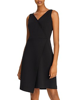 nanette Nanette Lepore - Asymmetric Faux-Wrap Cocktail Dress